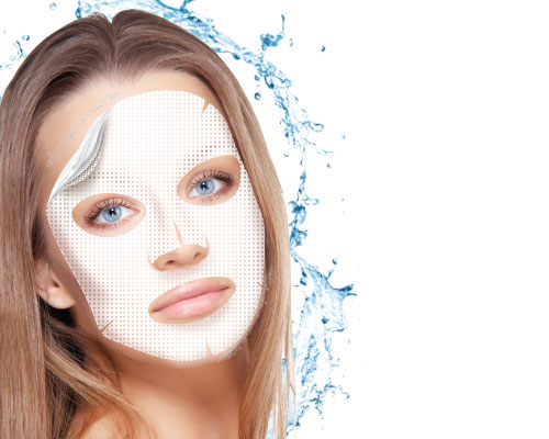 Antistress hydrogel mask with atlantic algae