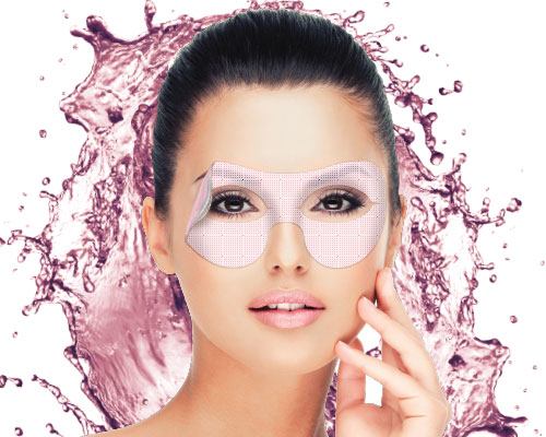 Hyper moisturizing eyes contour hydrogel mask with dragon fruit