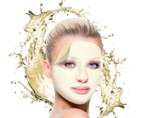 Brightening hydrogel mask with 24k gold