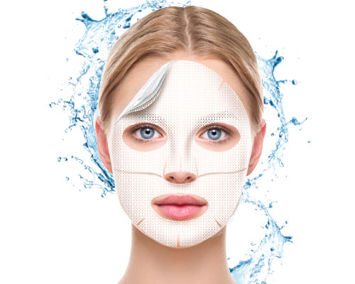 Perfecting hydrogel mask with natural pearls