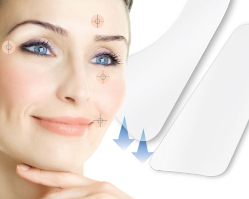 Anti wrinkles patch for eyes and lip contour