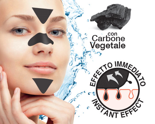 Blackheads patch with vegetable charcoal