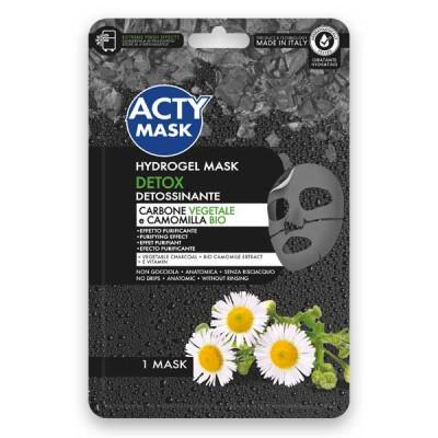 Maschera Hydrogel Detox con Carbone Vegetale e Camomilla Bio