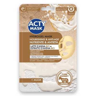 Maschera Hydrogel Nutriente e Antietà con Latte d'Asina Bio ed Estratto d'Avena Bio