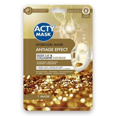 Maschera Hydrogel Anti Età con Oro 24K e Collagene Naturale