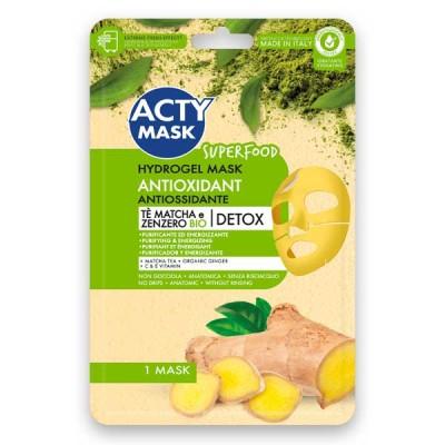 Maschera Hydrogel Antiossidante con Tè Matcha e Zenzero Bio