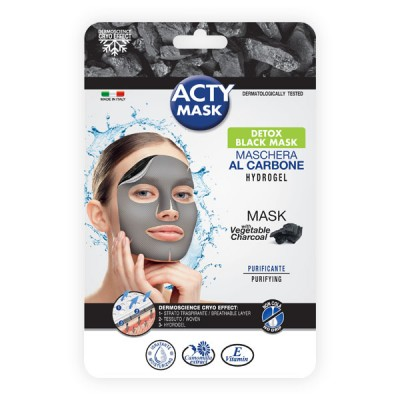 Maschera hydrogel purificante con carbone vegetale