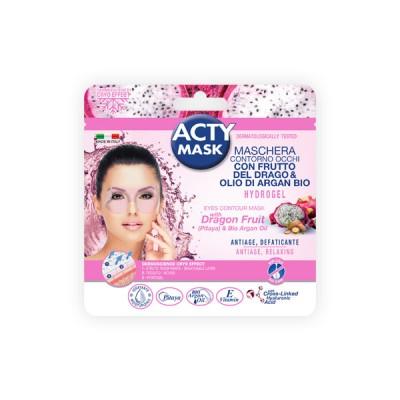 Hyper moisturizing eyes contour hydrogel mask with dragon fruit