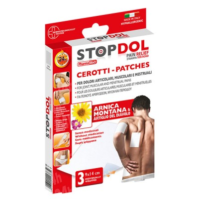 Pain relief plasters with arnica & devil's claw - for all body parts